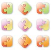 Puzzle Button-like Fotografia Stock Libera da Diritti