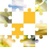 Puzzle carré Photo stock