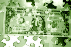 Puzzle cash Royalty Free Stock Image