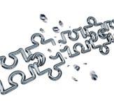 Puzzle a catena rotto Fotografie Stock Libere da Diritti