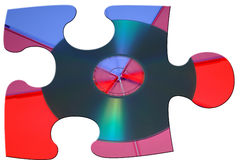 Puzzle CD Photographie stock