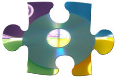 Puzzle CD Photo stock
