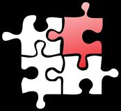 Puzzle.cdr. The missing piece of puzzle vector illustration Stock Images