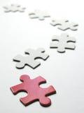 Puzzle - cercare il giusto posto Immagini Stock