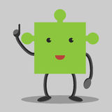 Puzzle character, insight Royalty Free Stock Images
