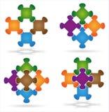 Puzzle che attacchiamo insieme Immagini Stock Libere da Diritti