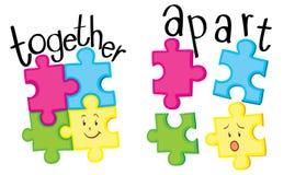 Puzzle che un e puzzle che è diverso Fotografia Stock