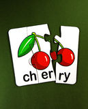 Puzzle -cherry Stock Photo