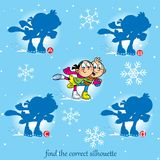 Puzzle, with children who skate vector illustration