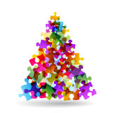 Puzzle christmas tree Stock Photography