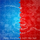 Puzzle christmas tree Stock Images