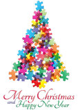 Puzzle christmas tree Royalty Free Stock Photography