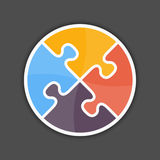 Puzzle Circle. Abstract puzzle circle icon, design element for your logo Royalty Free Stock Photo