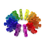 Puzzle in circle show teamwork Royalty Free Stock Photo