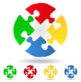 Puzzle circles Stock Image