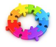 Puzzle circolare Fotografie Stock Libere da Diritti