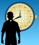 Puzzle Clock Stock Image