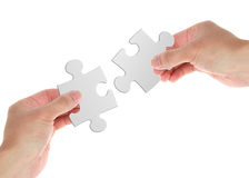 Puzzle. Close up of a puzzle game parts royalty free stock images