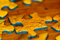 Puzzle closeup Royalty Free Stock Images