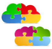 Puzzle clouds Royalty Free Stock Image