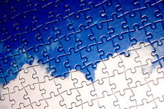 Puzzle clouds Royalty Free Stock Images