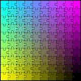 Puzzle CMYK. Editable CMYK blending puzzle board Stock Image