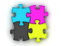 Puzzle. cmyk Royalty Free Stock Photo