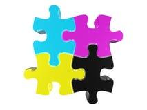 Puzzle CMYK Royalty Free Stock Image