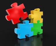 Puzzle coloré (chemin de coupure inclus) Photos stock