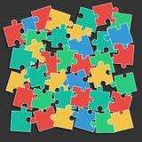 Puzzle coloré de morceaux Image stock