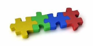 Puzzle coloré Photos libres de droits