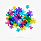 Puzzle color background. With lights Stock Photography