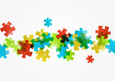 Puzzle color background. With lights Royalty Free Stock Photo