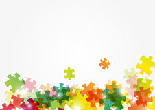 Puzzle color background. With place for text Royalty Free Stock Photography