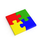 puzzle 4-color denteux Photographie stock libre de droits