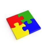 puzzle 4-color denteux Photographie stock libre de droits