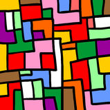 Puzzle color mosaic Royalty Free Stock Photo