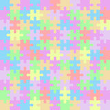 Puzzle color pieces mosaic Royalty Free Stock Images