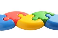 Puzzle colorato fotografie stock