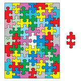 Puzzle colorful Stock Photo