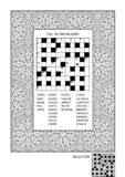 Puzzle and coloring activity page for adults Vector Illustration