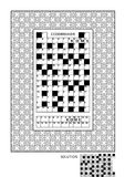 Puzzle and coloring activity page for adults Royalty Free Stock Image