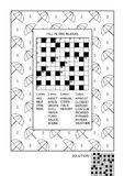 Puzzle and coloring activity page for adults Stock Photos