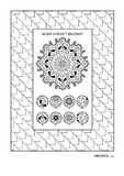 Puzzle and coloring activity page for adults Royalty Free Stock Images
