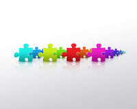 Puzzle Colors Royalty Free Stock Photos