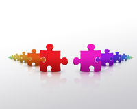 Puzzle Colors Stock Images
