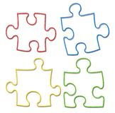 Puzzle colors Royalty Free Stock Image