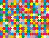 Puzzle in colors Stock Images