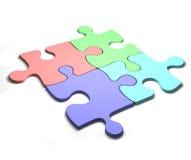 Puzzle Colourful Immagini Stock