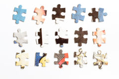 Puzzle. Colourful puzzle on white background Stock Photography